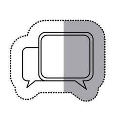 monochrome contour sticker of speech icon vector image vector image