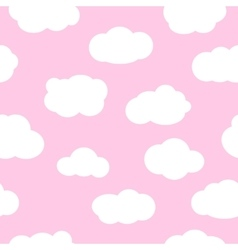 Pink sky with clouds seamless pattern vector image