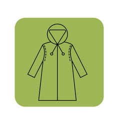 Rain cover raincoat flat icon object of clothes vector