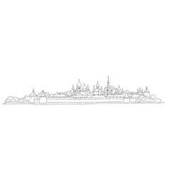 Russian famous landmark skyline view landscape of vector