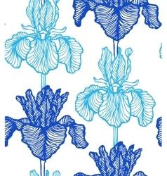 seamless iris background vector image vector image
