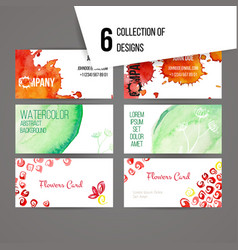 set of abstract ink and splashes designs vector image