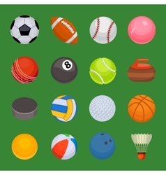 Set of sport balls isolated vector image vector image