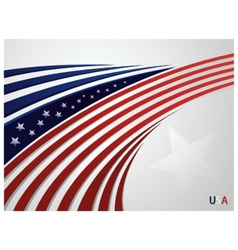 Stylized background usa patriotic design with line vector