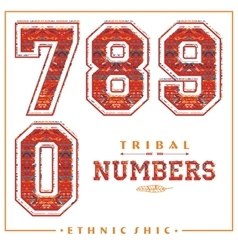 Tribal ethnic numbers for t-shirts posters card vector