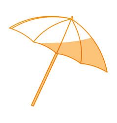 Umbrella beach accesory vector