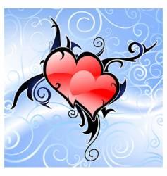 Valentine's theme vector image vector image