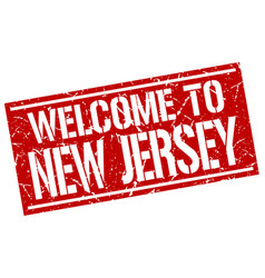 Welcome to new jersey stamp vector