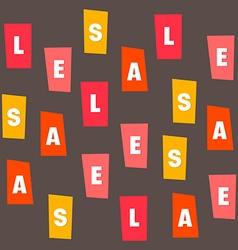 Sales letter vector image