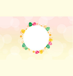 Easter theme frame style collection vector