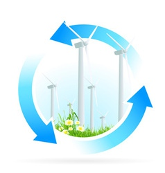 Renewable energy icon vector