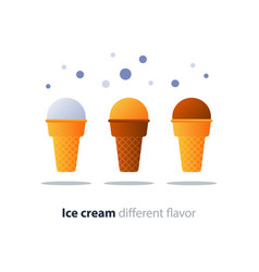 ice cream cone chocolate glazing tasty flavor cool vector image