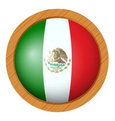 Flag icon design for mexico vector
