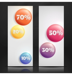 Sale buttons banner vector