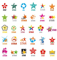 Biggest collection of logos stars vector