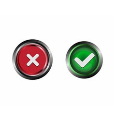 Confirm and decline buttons vector