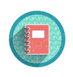 Retro notebook icon vector image