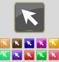 Cursor arrow icon sign set with eleven colored vector