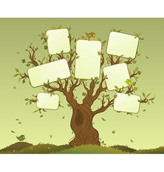 Blank tablets on a tree vector