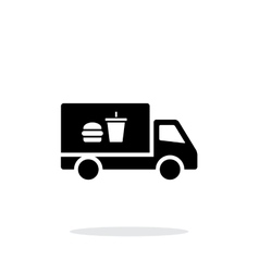 Truck with food simple icon on white background vector