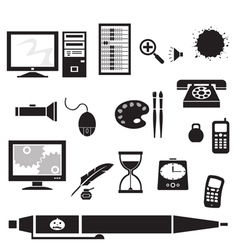 Silhouette - office vector