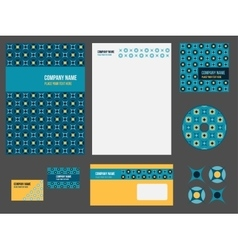 Corporate identity stationery for company vector image