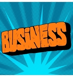 Stone text the word business vector