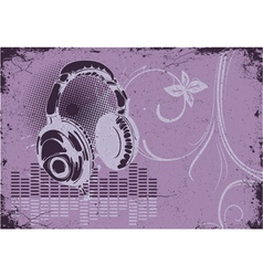 Concert poster with headphones vector