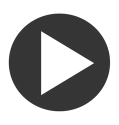 simple play button vector image