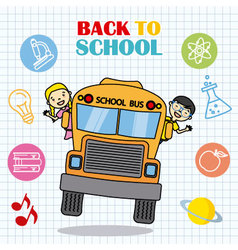 school bus with children vector image