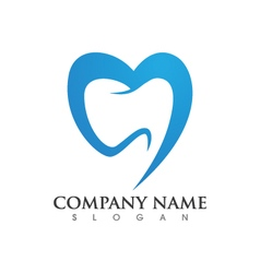 Dental logo Template vector image