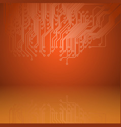 abstract electronics orange background with vector image