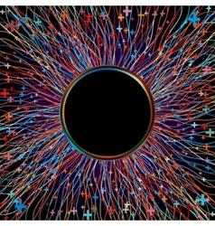 Abstract multicolor beams vector