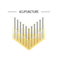 acupunkture traditional chinese medicine vector image vector image