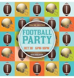 American Football Party Pattern Invitation vector image