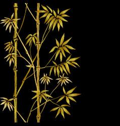 Bamboo seamless vertical embroidery border vector