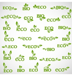 Big collection of Eco icons vector image vector image