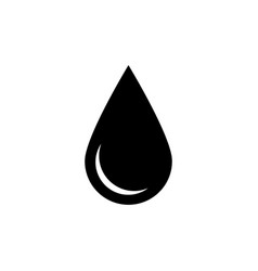 black drop icon oil or water symbol simple flat vector image