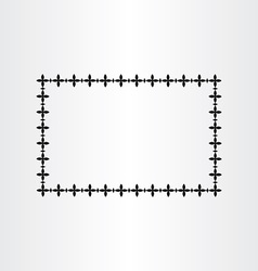 Black geometric border frame background vector
