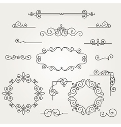 Calligraphic decorative elements vector image vector image