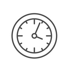 clock line icon vector image