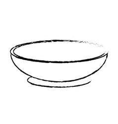 contour bowl to prepare delicious and healthy vector image vector image