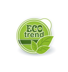 Ecological natural organic label vector