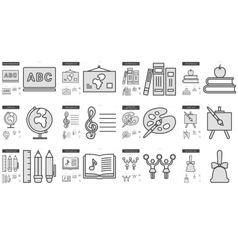 Education line icon set vector image vector image