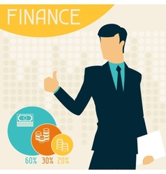 Finance infographics vector