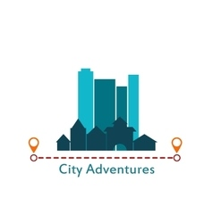 Flat design urban landscape City Adventure vector image