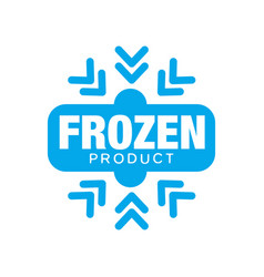 frozen product sticker for food with snowflake vector image vector image