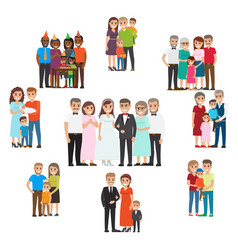 Gathered family for holidays and special events vector