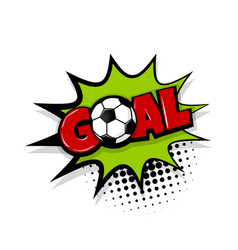 Goal comic text white background vector