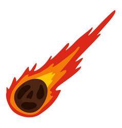 Meteorite icon isolated vector